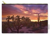 Pretty In Pink Desert Skies  Carry-all Pouch