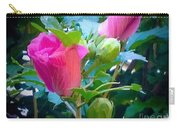 Pretty In Pink Hibiscus Flowers And Buds Carry-all Pouch