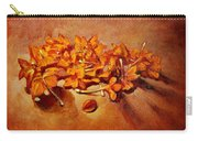 Pretty Little Orange Flowers - Kankaambaram Carry-all Pouch