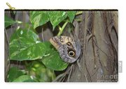 Pretty Morpho Butterfly Resting In A Butterfly Garden  Carry-all Pouch