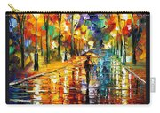 Pretty Night - Palette Knife Oil Painting On Canvas By Leonid Afremov Carry-all Pouch