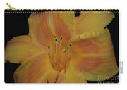 Pretty Orange Daylily Flowering With Pollen On It's Stamen Carry-all Pouch