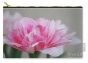 Pretty Pale Pink Parrot Tulip Flower Blossom Carry-all Pouch