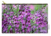 Pretty Pink And Purple Flowers Carry-all Pouch