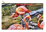 Pretty Pink Flamingos Carry-all Pouch