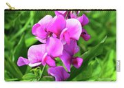 Pretty Pink Sweetpea  Carry-all Pouch