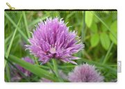 Pretty Purple Chive Flower Carry-all Pouch