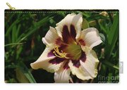 Pretty Single Blooming Daylily In A Garden Carry-all Pouch
