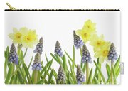 Pretty Spring Flowers All In A Row Carry-all Pouch