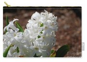Pretty White Hyacinth Flower Blossom Flowering Carry-all Pouch