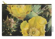 Prickle Pear Cactus Flower Trio Carry-all Pouch