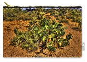 Prickly Pear In Bloom With Brittlebush And Cholla For Company Carry-all Pouch