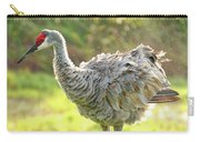 Primping Sandhill Crane Carry-all Pouch
