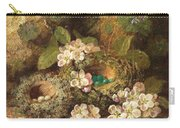 Primroses And Bird's Nests On A Mossy Bank Carry-all Pouch