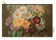 Primulas In A Glass Vase  Carry-all Pouch