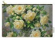 Princess Diana Roses In A Cut Glass Vase Carry-all Pouch