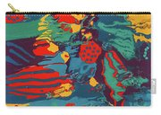 Printed Saltillo Carry-all Pouch