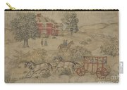 Printed Textile: Genre Scene Carry-all Pouch