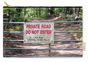 Private Road Do Not Enter Carry-all Pouch