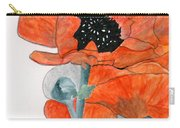 Prize Poppies Carry-all Pouch