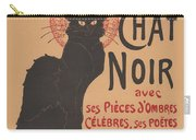 Prochainement La Tr?s Illustre Compagnie Du Chat Noir (poster For The Company Of The Black Cat) Carry-all Pouch