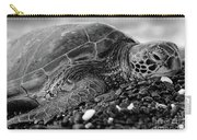 Profile Hawaiian Sea Turtle Bw Carry-all Pouch