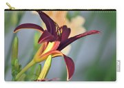 Profile Of A Day Lily Carry-all Pouch