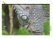 Profile Of A Gray Iguana In The Top Of A Bush Carry-all Pouch