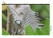 Profile Of A Gray Iguana Perched In A Bush Carry-all Pouch