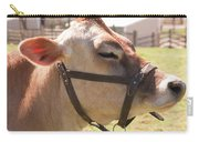 Profile Of Brown Cow Carry-all Pouch