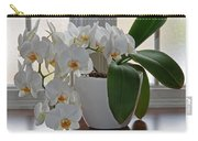Profusion Of White Orchid Flowers Carry-all Pouch