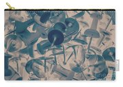 Projected Abstract Blue Thumbtacks Background Carry-all Pouch
