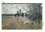 Promenade Near Argenteuil Carry-all Pouch by Claude Monet