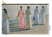 Promenade On The Beach Carry-all Pouch by Michael Peter Ancher