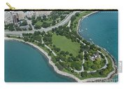 Promontory Point In Burnham Park In Chicago Aerial Photo Carry-all Pouch