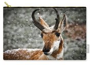 Pronghorn Buck In Snow - Yellowstone National Park Carry-all Pouch