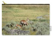 Pronghorn Doe With Her Twins Carry-all Pouch