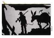 Prospector And Mule  In Metal Tombstone Arizona 2004-2014 Carry-all Pouch