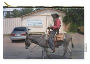 Prospector Re-enactor With Burro Passing Rose Bush Museum Sign Tombstone  Arizona 2004 Carry-all Pouch