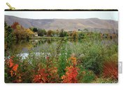 Prosser Autumn River With Hills Carry-all Pouch by Carol Groenen