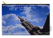 Proverbs 8-27 Carry-all Pouch
