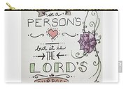 Proverbs Nineteen Verse Twenty One  Carry-all Pouch