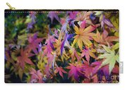 Psychedelic Maple Carry-all Pouch by Kaye Menner