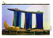 Psychedelic Marina Bay Sands Hotel Singapore Carry-all Pouch