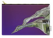 Psychedelic Metal  Sculpture Of Three Mallard Ducks Flying Carry-all Pouch