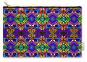 Psychedelic Pattern Blue Carry-all Pouch