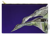Psychedelic Sculpture Of Three Mallard Ducks Flying Carry-all Pouch