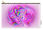 Psychedelic Swirls On Lollypop Pink Carry-all Pouch
