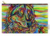 Psychedelic Wolf Carry-all Pouch