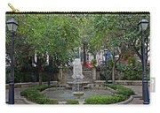 Public Fountain And Garden In Palma Majorca Spain Carry-all Pouch